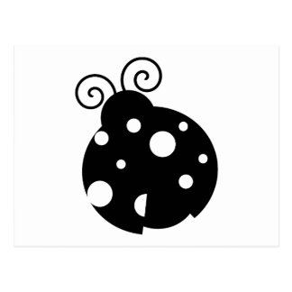 Cute Ladybug Silhouette Post Card