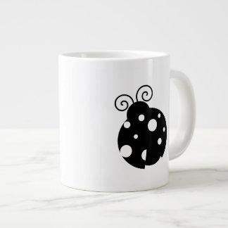 Cute Ladybug Silhouette Jumbo Mugs