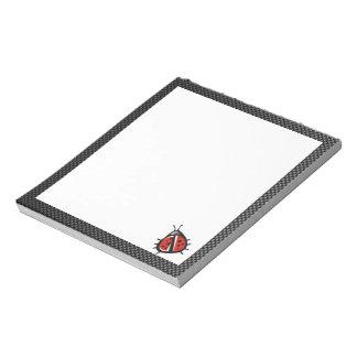 Cute Ladybug; Sleek Note Pads