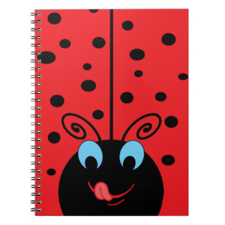 Cute Ladybug Spiral Notebook