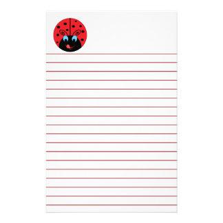 Cute Ladybug Stationery