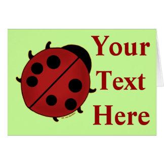 Cute Ladybug Stationery Note Card