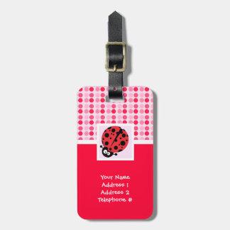 Cute Ladybug Tag For Luggage