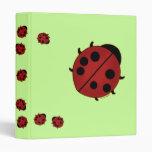 Cute Ladybug Vinyl Binders