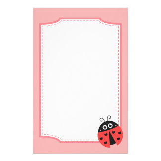 Cute Ladybug with hearts as spots Stationery