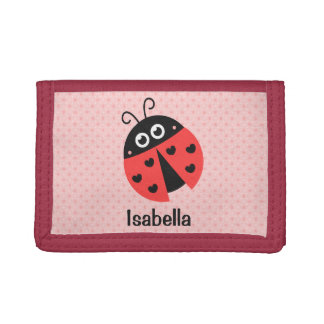 Cute ladybug with Hearts Girls Wallet