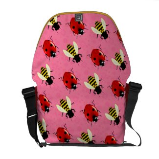 Cute Ladybugs and Bees Messenger Bag