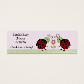 Cute Ladybugs and Flower Favor/Tags Mini Business Card