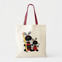 Cute Ladybugs and Pencil Teacher's Tote Bag