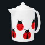 "CUTE LADYBUGS DESIGN TEAPOT<br><div class=""desc"">A classic white Tea Pot with a pattern illustration of cute ladybirds. Available in all options. Visit our store for more Teapots and other Home Accessories.</div>"