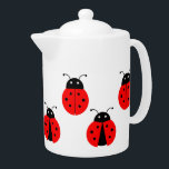 """CUTE LADYBUGS DESIGN TEAPOT<br><div class=""""desc"""">A classic white Tea Pot with a pattern illustration of cute ladybirds. Available in all options. Visit our store for more Teapots and other Home Accessories.</div>"""