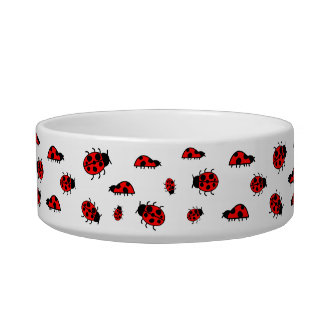 Cute Ladybugs Images Custom Dog or Cat Pet Bowl Cat Bowl