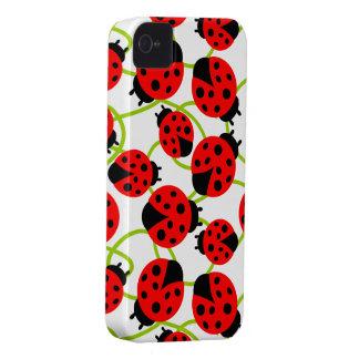 Cute Ladybugs iPhone 4 Case