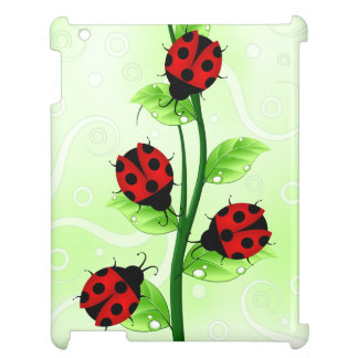 Cute Ladybugs / Ladybirds on a Vine iPad Case