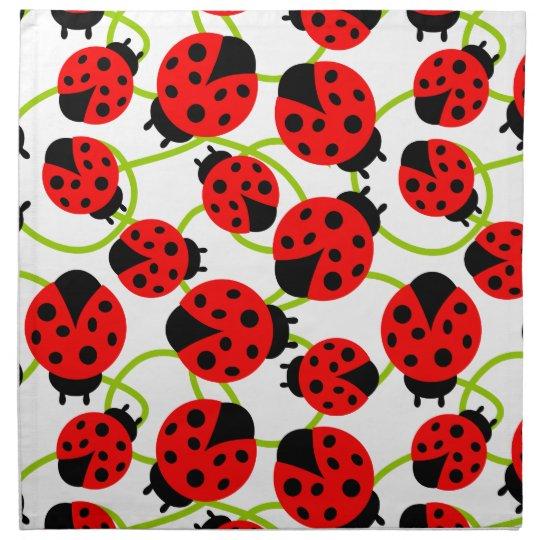 Cute Ladybugs Napkin