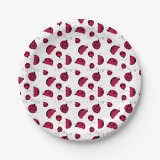 Cute Ladybugs Paper Plate