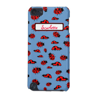 Cute Ladybugs Personalized Custom Name Cases iPod Touch (5th Generation) Case