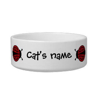 Cute ladybugs cat bowls