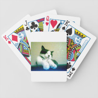 cute laid back kitty bicycle playing cards