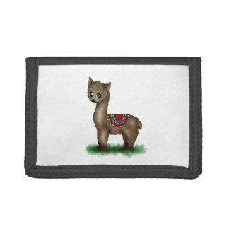 cute Lama Trifold Wallet