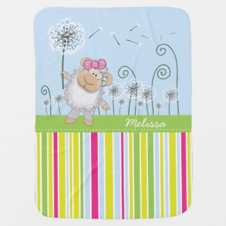 Cute Lamb Baby Blanket