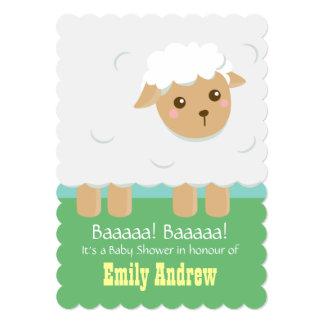 Cute Lamb Baby Shower Gender Neutral Card