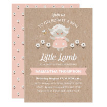 Cute Lamb Baby Shower Invitation