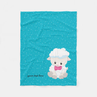Cute lamb * choose background color fleece blanket