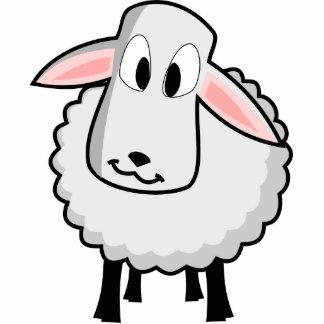 Cute Lamb Cut Out