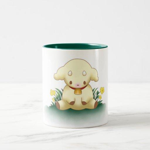 Cute Lamb Mug - Green