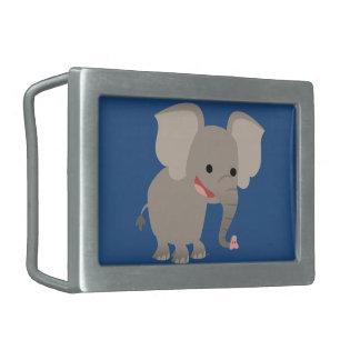 Cute Laughing Cartoon Elephant Belt Buckle