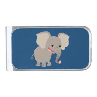 Cute Laughing Cartoon Elephant Money Clip