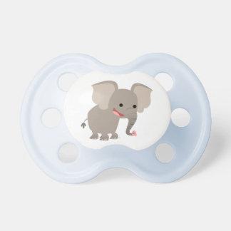 Cute Laughing Cartoon Elephant Pacifier