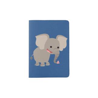 Cute Laughing Cartoon Elephant Passport Cover