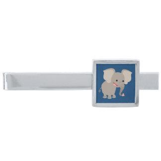 Cute Laughing Cartoon Elephant Tie Bar