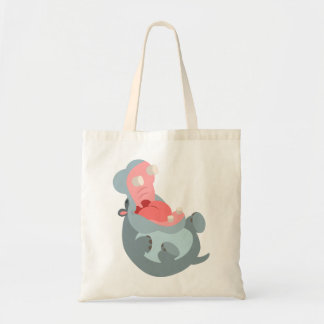 Cute Laughing Cartoon Hippo Bag