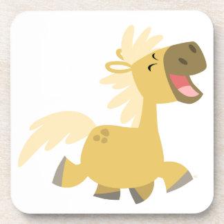 Cute Laughing Cartoon Pony Coasters Set