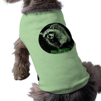 Cute laughing  raccoon on dog sweater dog t shirt