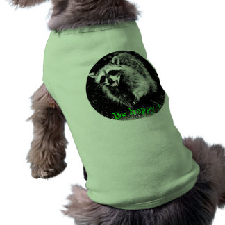 Cute laughing  raccoon on dog sweater tee