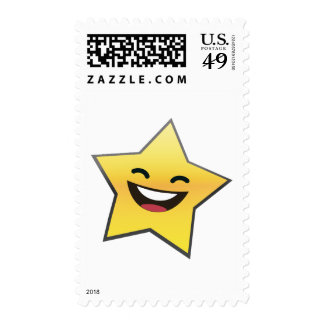 Cute Laughing Smiling Star Power Postage Stamps