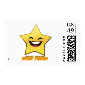 Cute Laughing Smiling Star Power Postage Stamp