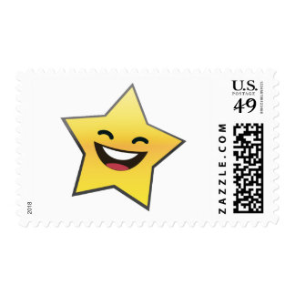 Cute Laughing Smiling Star Power Stamp