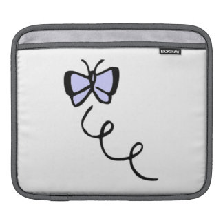 Cute Lavender Blue Butterfly Sleeves For iPads