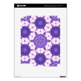 Cute Lavender Heart Abstract Decals For iPad 3