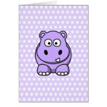 Cute Lavender Hippo Cards