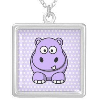 Cute Lavender Hippo Jewelry