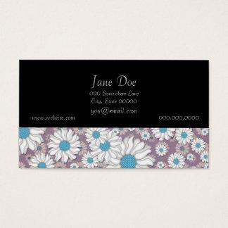 Cute Lavender White Blue Fantasy Daisies Business Card