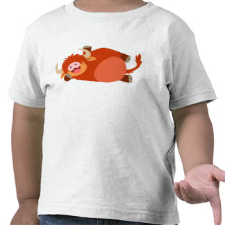 Cute  Lazy Cartoon Highland Cow Children T-Shirt