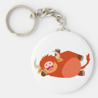Cute  Lazy Cartoon Highland Cow Keychain