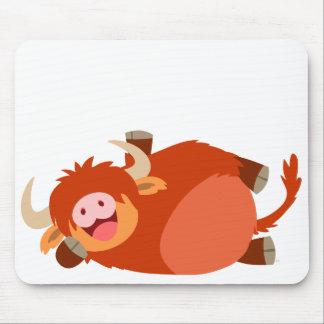 Cute  Lazy Cartoon Highland Cow Mousepad